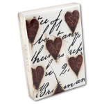 Sid Dickens Memory Block T01: Red Hearts with Script