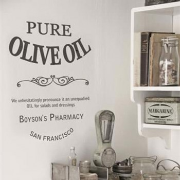 Pure Olive Oil Self Adhesive Stencil