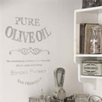 Pure Olive Oil French Stencil