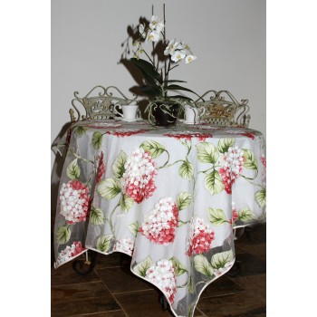 Organza Tablecloth (Red Hydrangea)