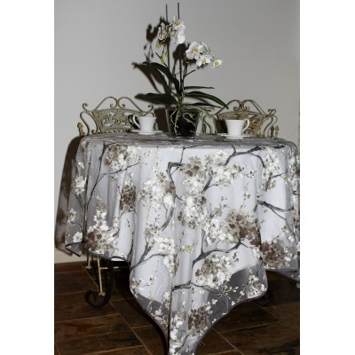 Organza Tablecloth (Apple Blossom Red)
