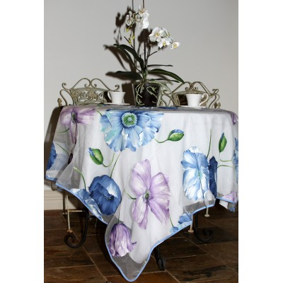 Organza Tablecloth (Poppy Blue)