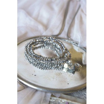 Dusty Hearts Bracelets Antique Silver