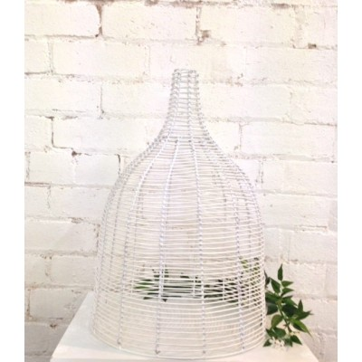 White Cane Lamp Shade