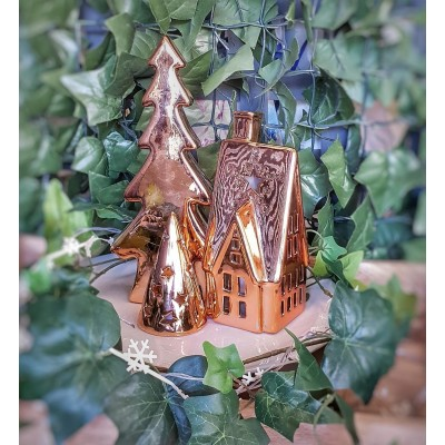 Illuminated Copper Christmas Decorations