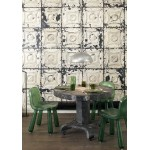Aged White Pressed Tin Wallpaper