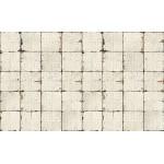 Aged Cream Pressed Tin Wallpaper
