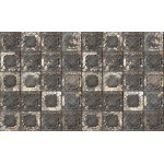 Aged Brown Pressed Tin Wallpaper
