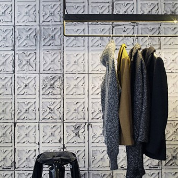 Aged Soft Grey Pressed Tin Wallpaper