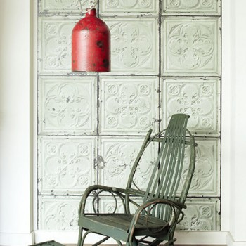 Aged Green Pressed Tin Wallpaper