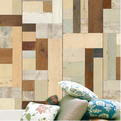 Multi Browns Wooden Look Wallpaper