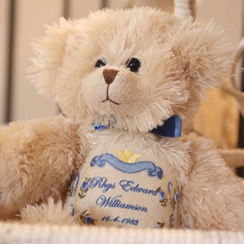 Personalised Monty Heritage Birth Bear