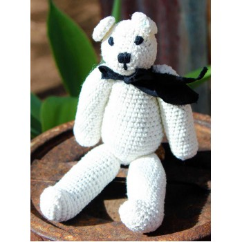 Hand Crocheted Alexander Bear