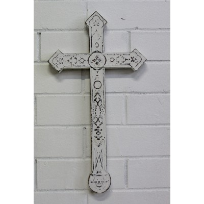 Decorative Wooden Whitewash Cross