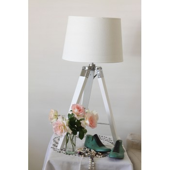 White Tripod Table Lamp