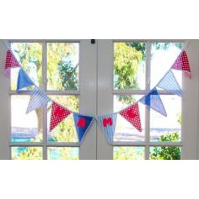 Personalised Bunting Red and Blue
