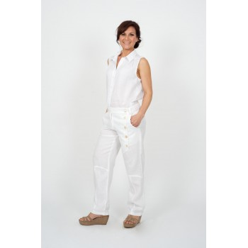 Linen Button Pants
