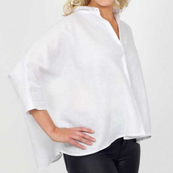 Linen Bat Wing Top