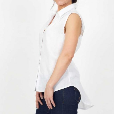 Linen Sleeveless Shirt