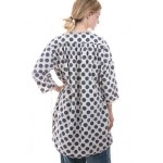 Magnolia Pearl Polka Dot Cotton Top with Long Sleeves