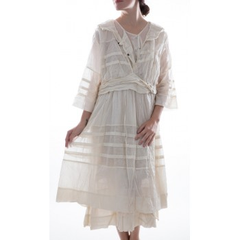 Thin European Cotton and Fine French Tulle Braesha Dress