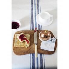 French Linen Table Runner (Blue)