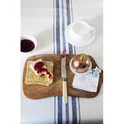 French Linen Table Runner (Blue)