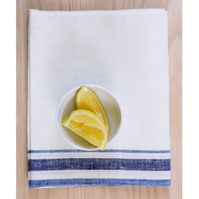 French Linen Tea Towel (Blue)