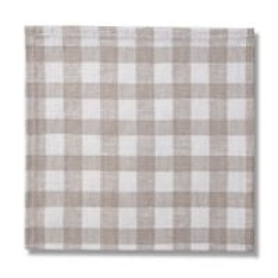 Country Checks Napkin (Natural)