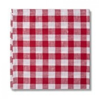 Country Checks Napkin (Red)