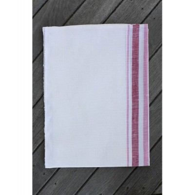 French Linen Tea Towel (Red)