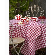 Country Checks Tablecloth (Red)