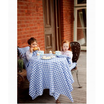 Country Checks Tablecloth (Blue)
