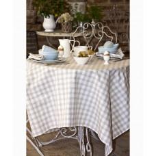 Country Checks Tablecloth (Natural)