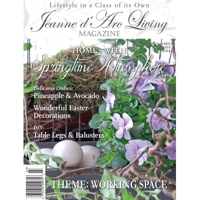 Decorating your Work Space by Jeanne d'Arc Living (March 2013)