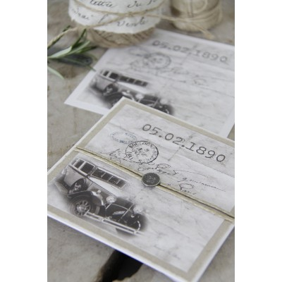 Vintage Car Gift Envelope