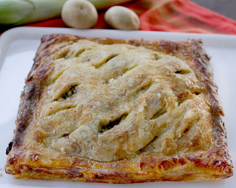 Alsatian Potato and Leek Tart