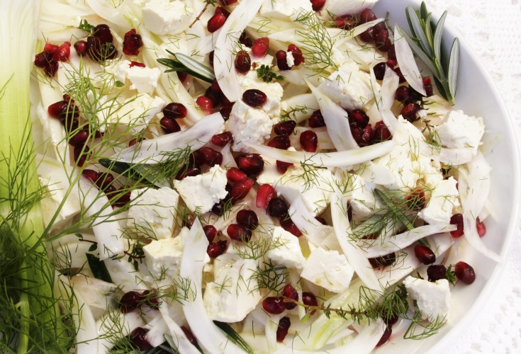 Fennel, Fetta and Pomegranate Salad