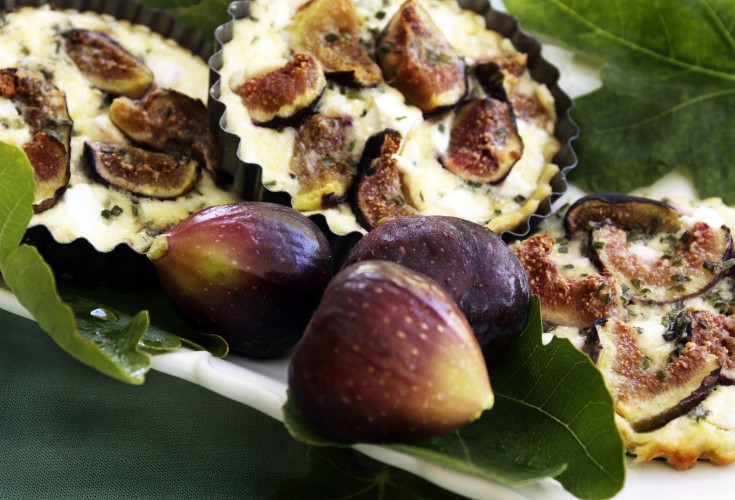 Fig Tarte with Goat Cheese