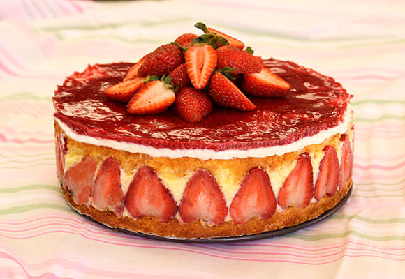 Provence: French Strawberry Fraisier (Classic French Torte)