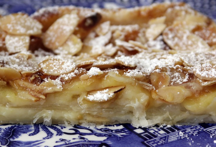 French Apple, Almond and Custard Tart
