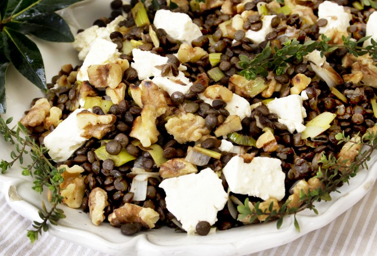 French Lentils with Goat Cheese and Walnuts