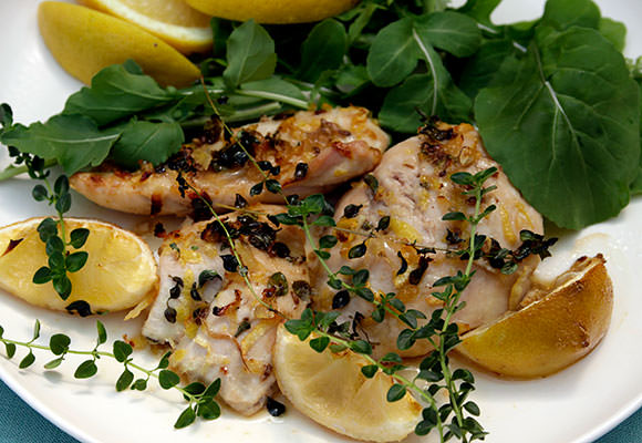 Provence: Lemon and Lavender Roasted Chicken
