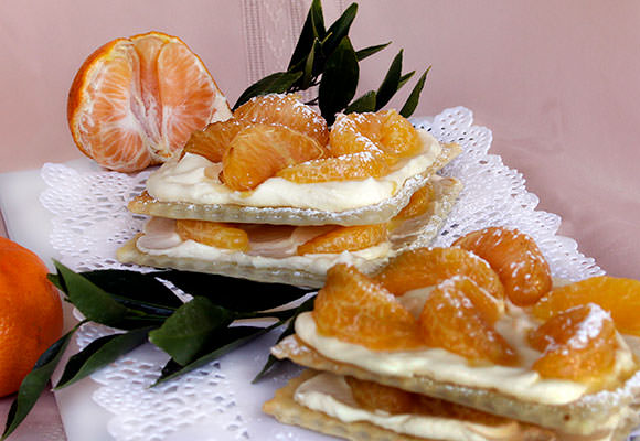 Provence: Mandarin and Vanilla Mille-feuille