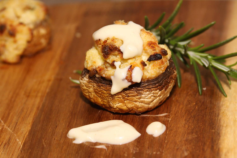 Stuffed Mushrooms with Neufchatel Cheese