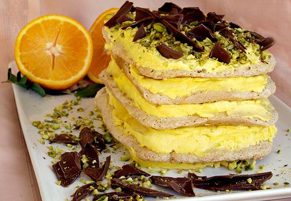 Provence: Orange Pistachio Dacquoise