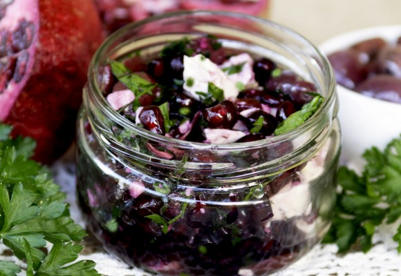 Pomegranate and Olive Relish