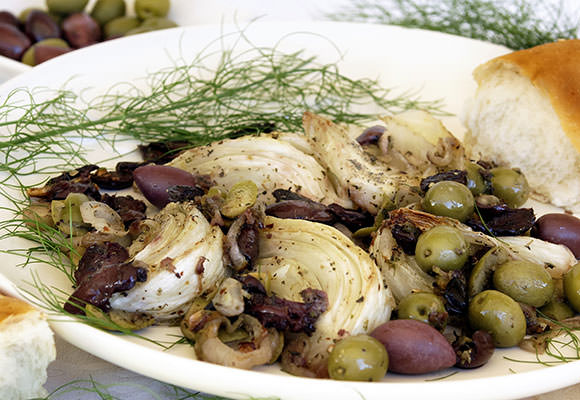 Provence: Provencal Roasted Fennel and Olive Salad