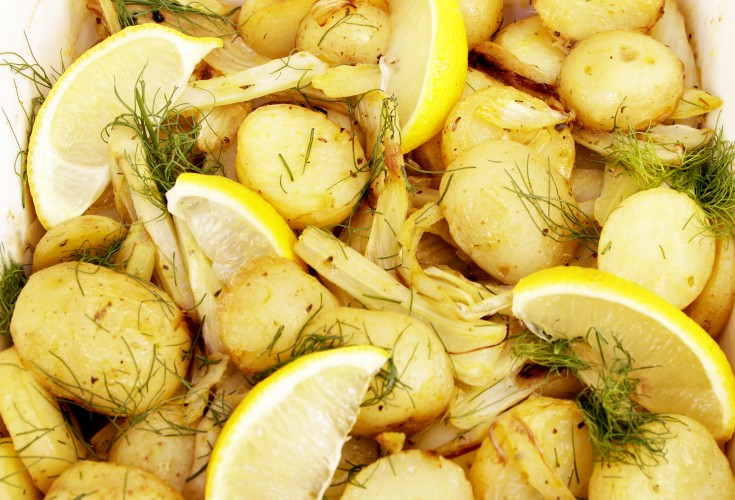 Provencal Baby Potatoes with Fennel