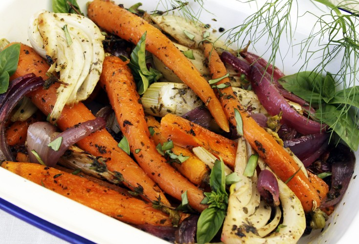 Provencal Baked Carrots and Fennel
